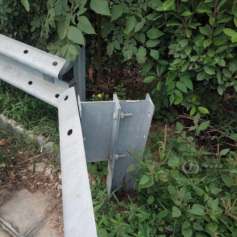 H steel highway guardrail crash barrier post