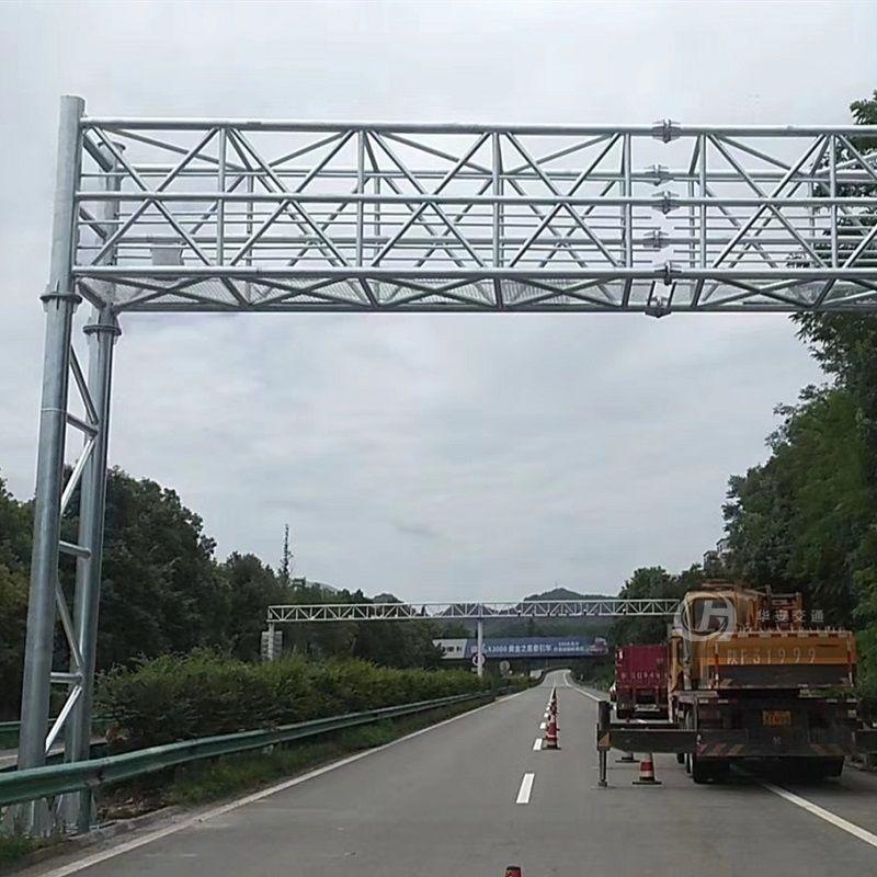 Gantry frame galvanized steel traffic sign poles