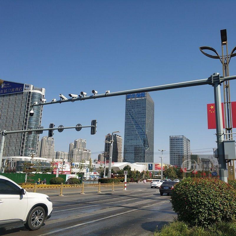 Galvanized steel traffic monitoring camera post poles