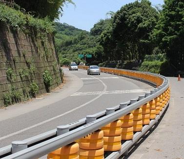 Safety roller type barrier guardrail