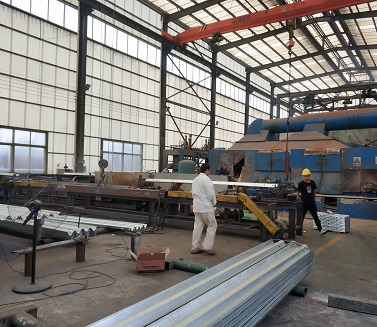 Guardrail galvanizing process