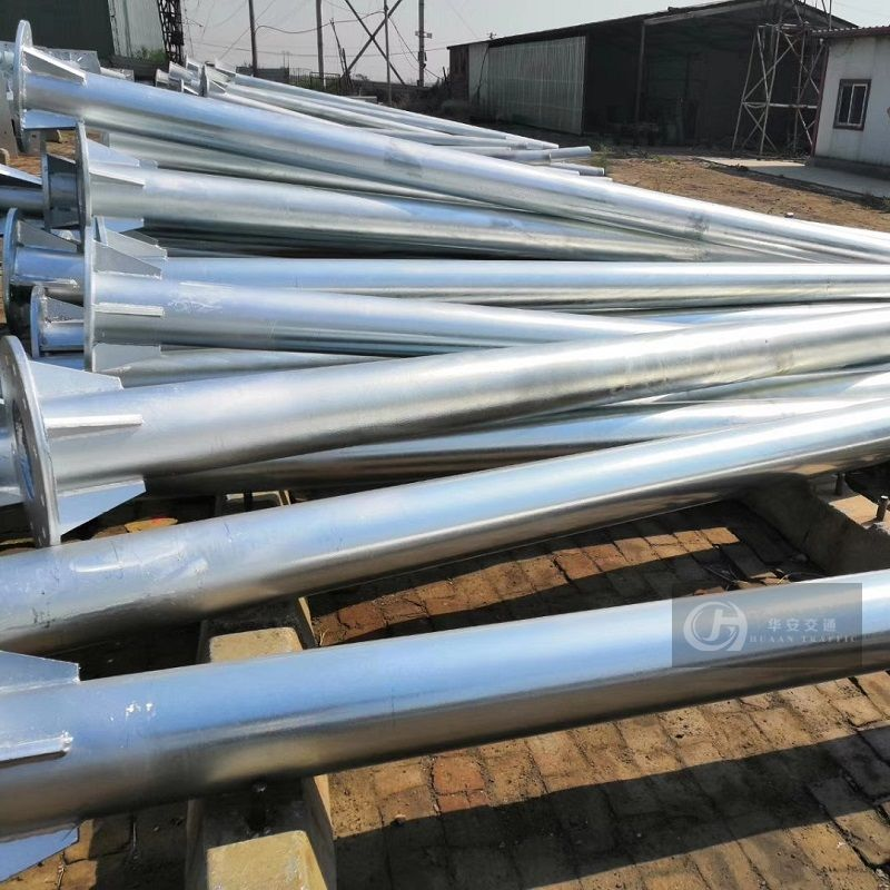 Multiple column galvanized steel traffic sign poles