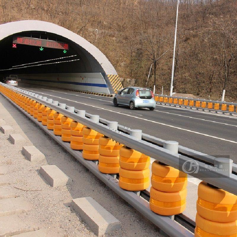 EN1317 safety roller type rolling crash barrier guard rail