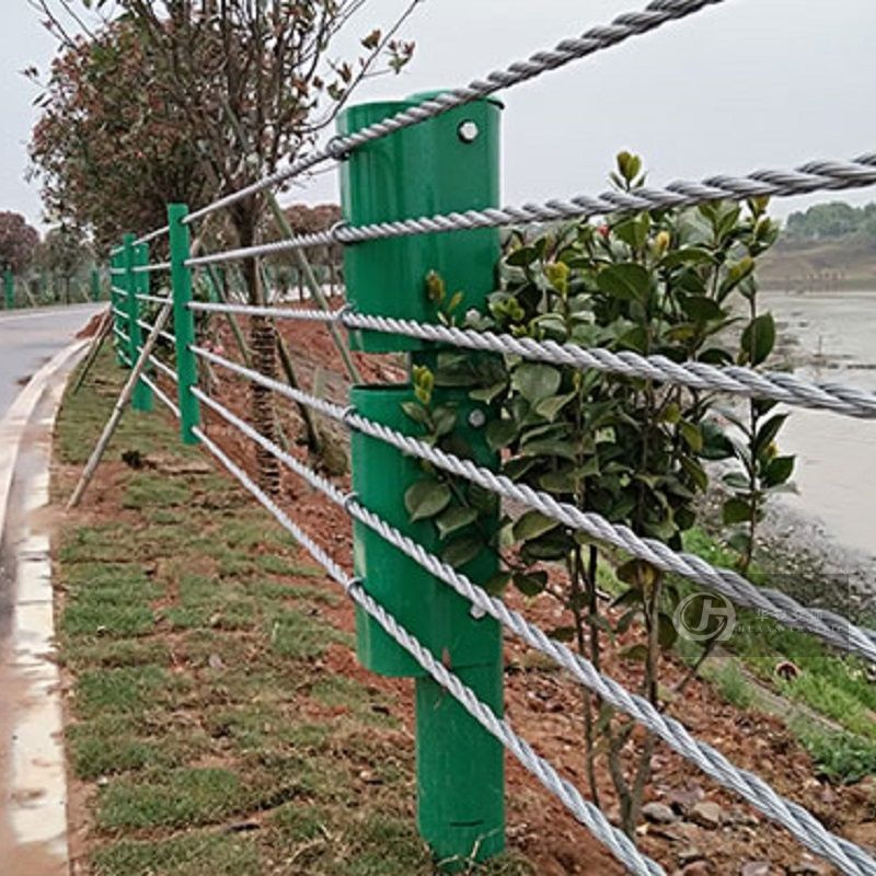 Cable guardrail wire rope safety barrier flexible guard railing system