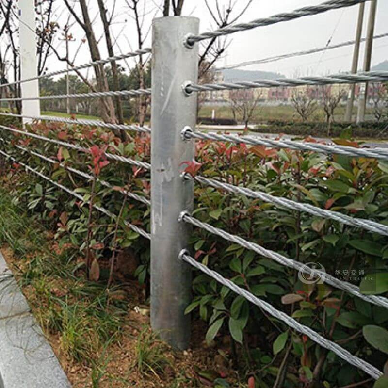 Huaan traffic facilities steel wire rope cable barrier flexible guard rails