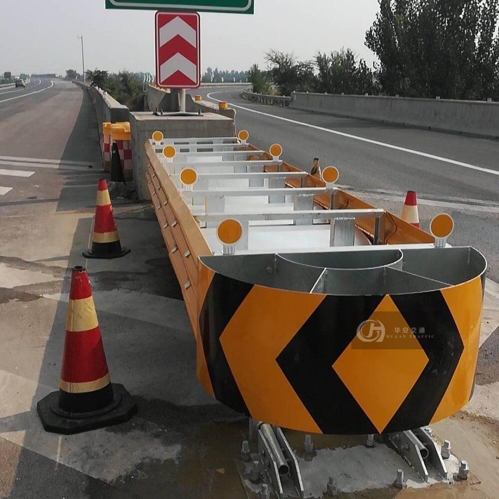 Highway traffic safety crash cushions